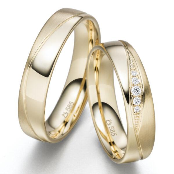 Trauringe - Klassisch - Trauringe 1370 GELBGOLD GOLD