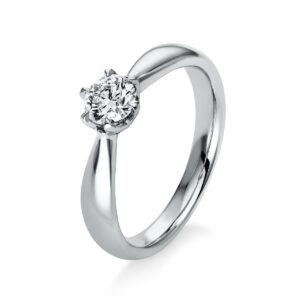 Ring 6er-Krappe 18 kt WG, GIA1353938342