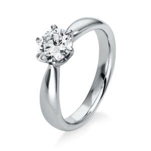 Ring 6er-Krappe 18 kt WG, GIA2326882218