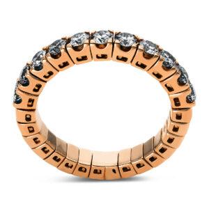 Ring 4er-Krappe 18 kt RG, Flex-Band, variabel
