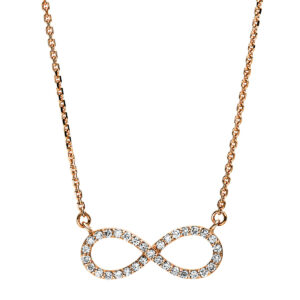 """Collier 18 kt RG """"Infinity"""""""