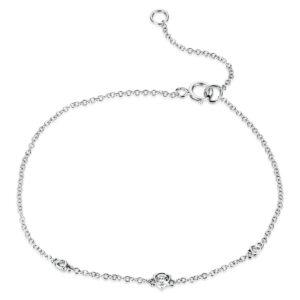 Armband 18 kt WG, Zwischenöse bei 14.5 cm