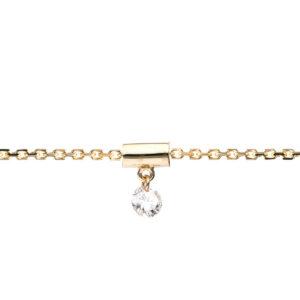 Armband 9 kt GG, mit ZÖ 17,5 cm, Stein fix